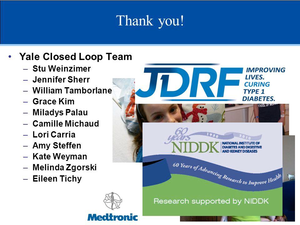 Thank you! Yale Closed Loop Team Stu Weinzimer Jennifer Sherr