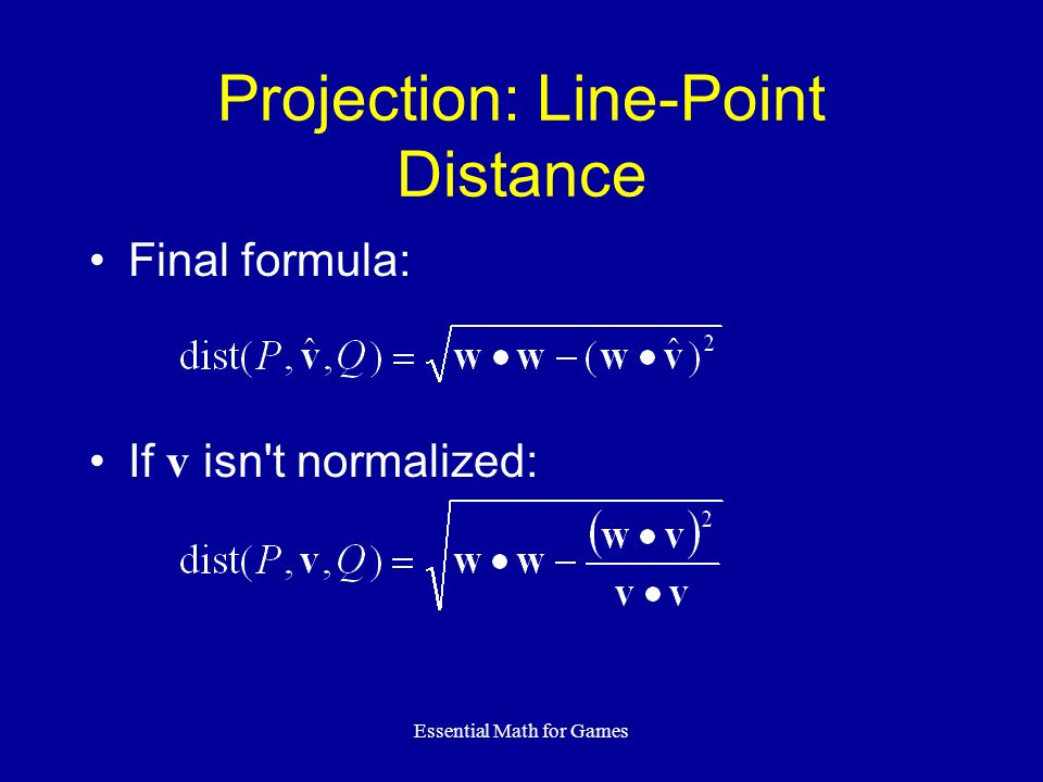 Projection: Line-Point Distance