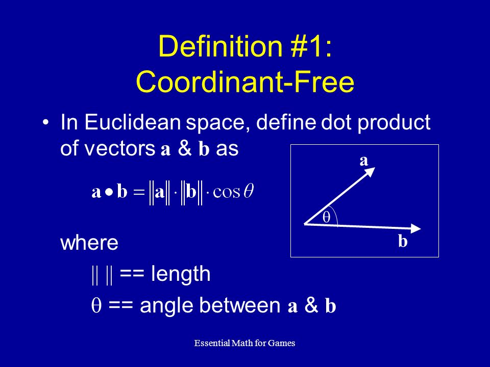 Definition #1: Coordinant-Free