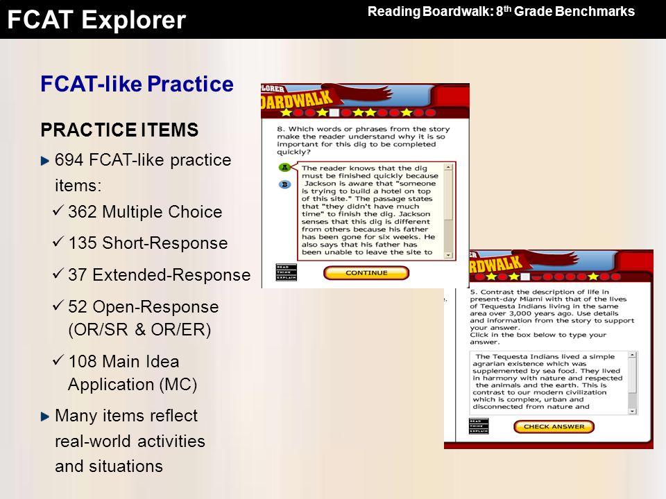 FCAT-like Practice PRACTICE ITEMS 694 FCAT-like practice items: