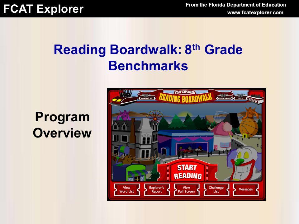 Reading Boardwalk: 8th Grade Benchmarks