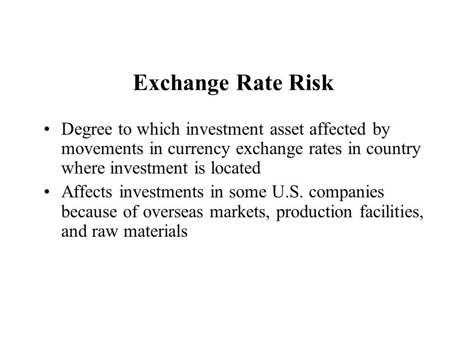 Interest Rates and Exchange Rate