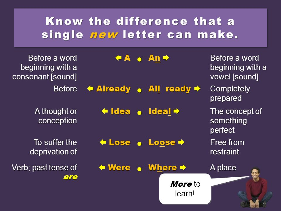 Know the difference that a single new letter can make.