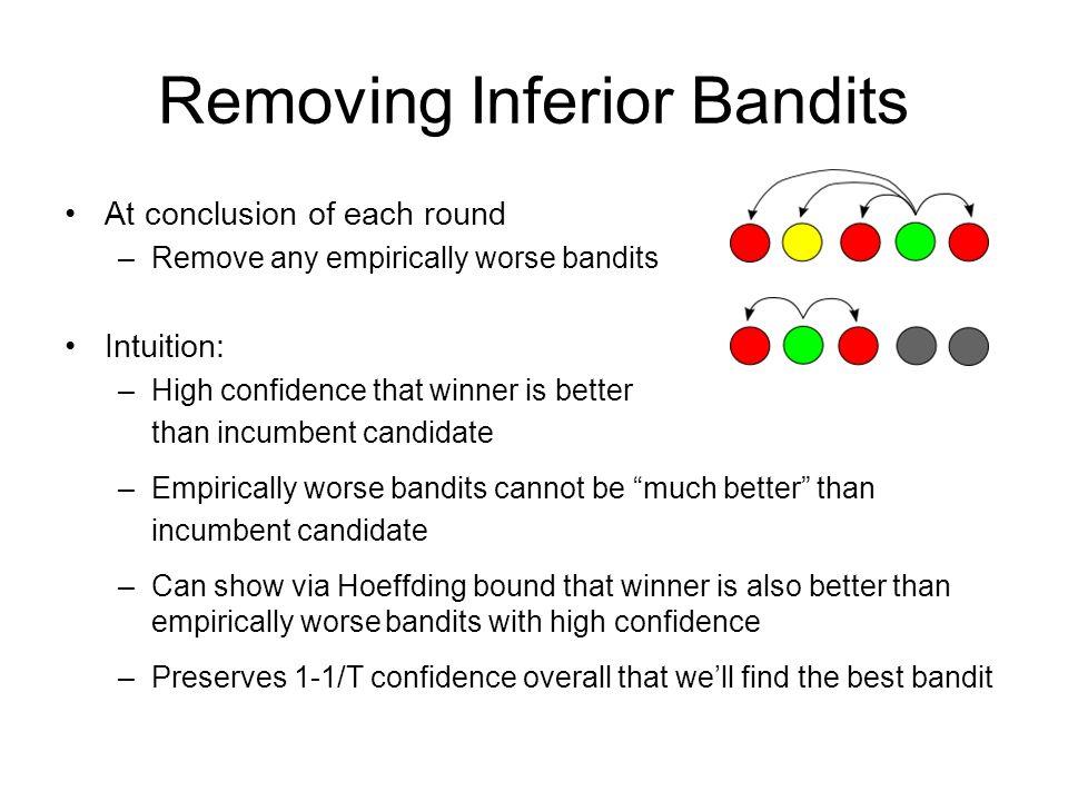 Removing Inferior Bandits