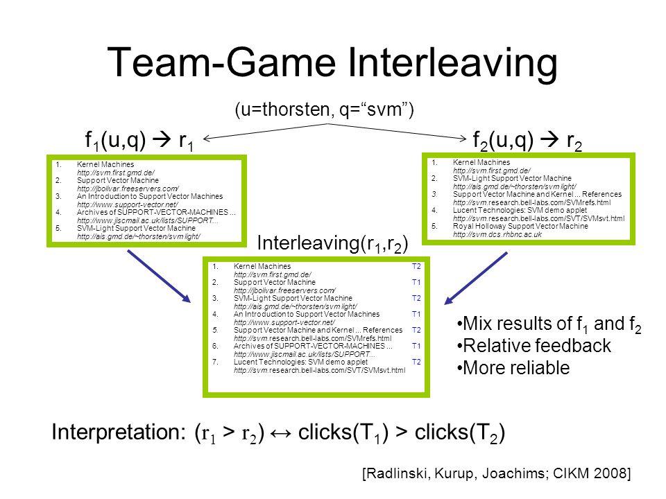 Team-Game Interleaving