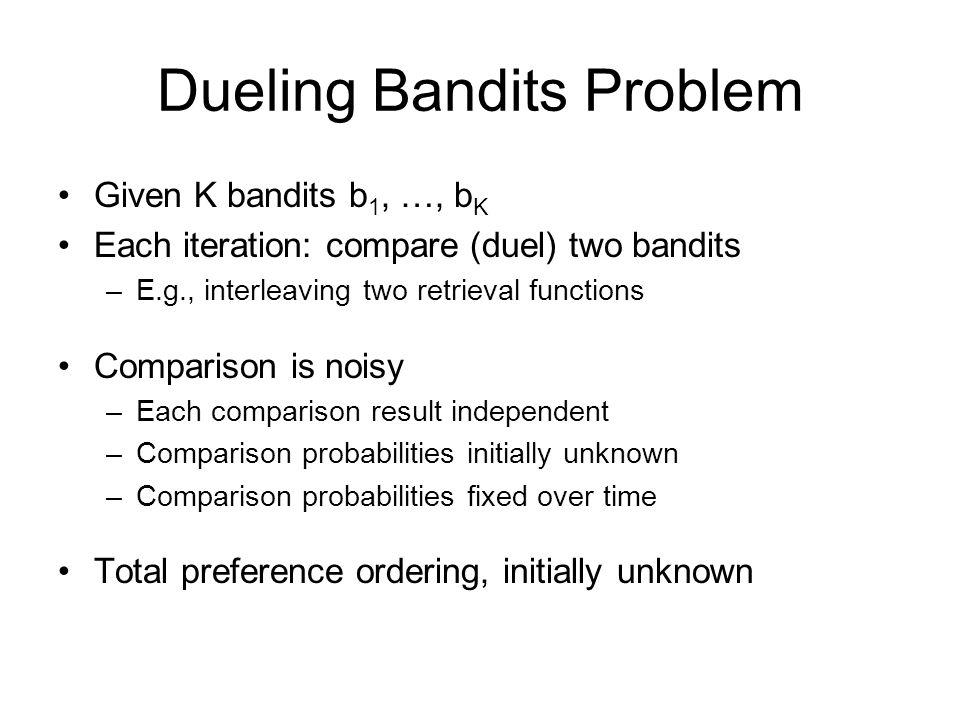 Dueling Bandits Problem