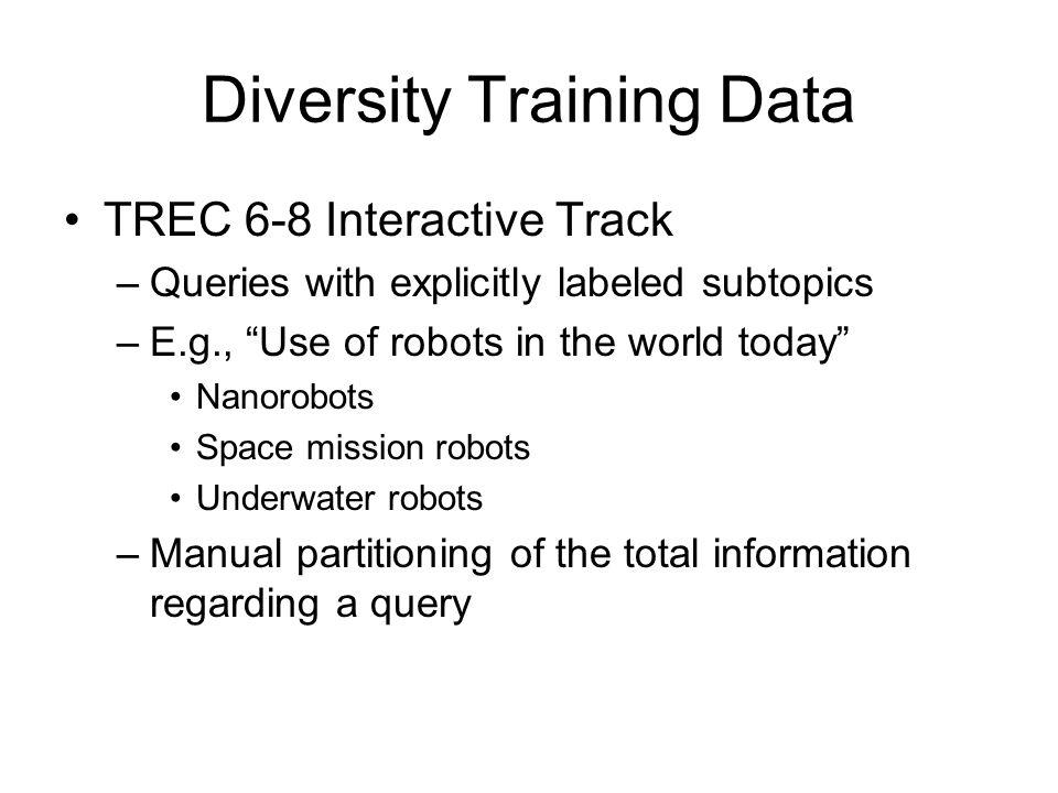 Diversity Training Data