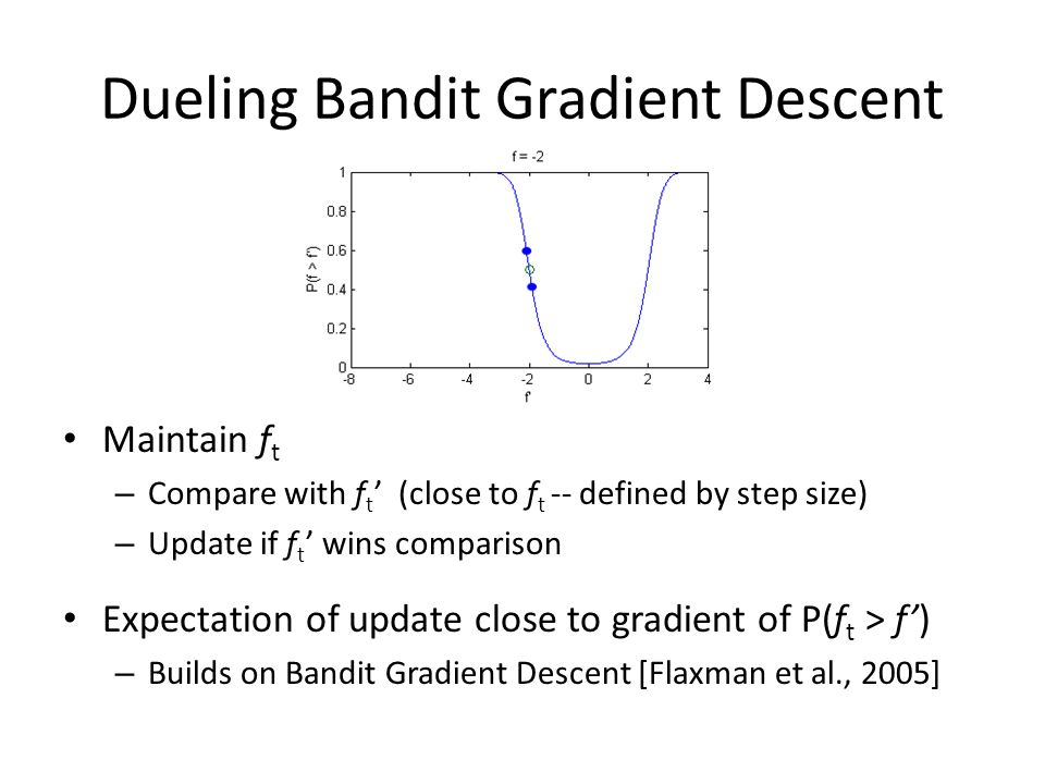 Dueling Bandit Gradient Descent