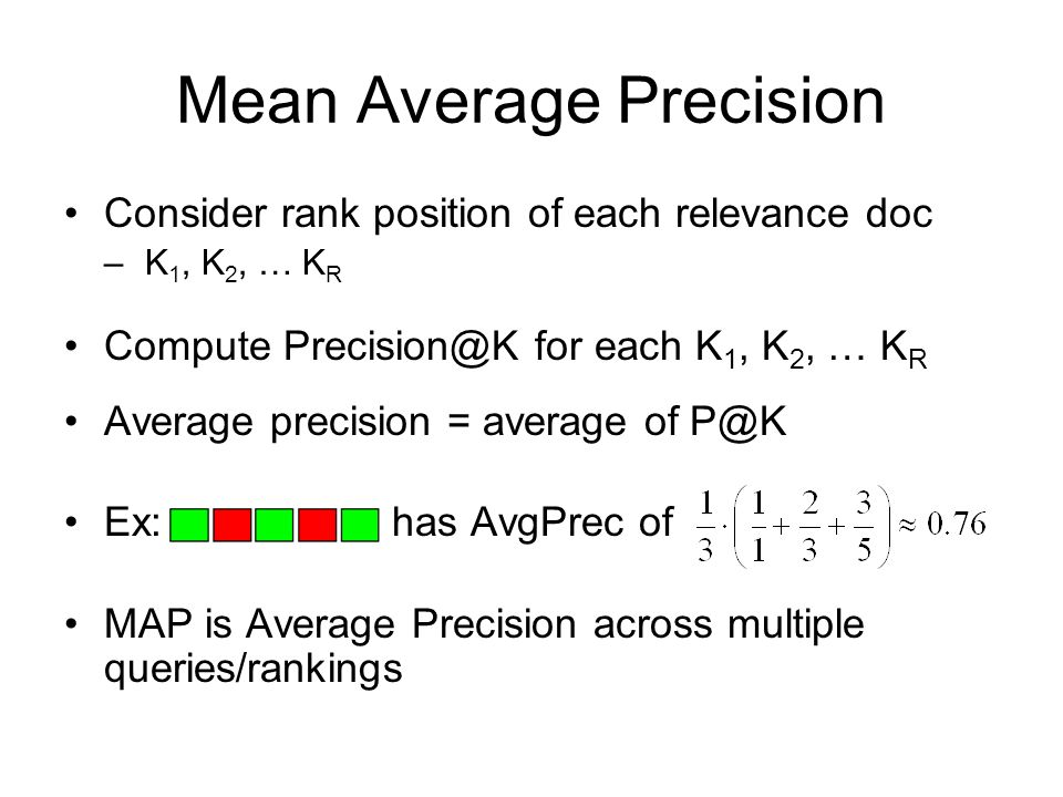 Mean Average Precision