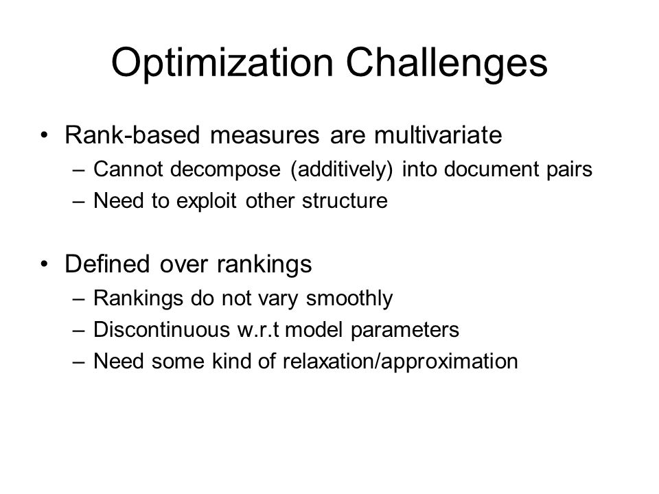 Optimization Challenges