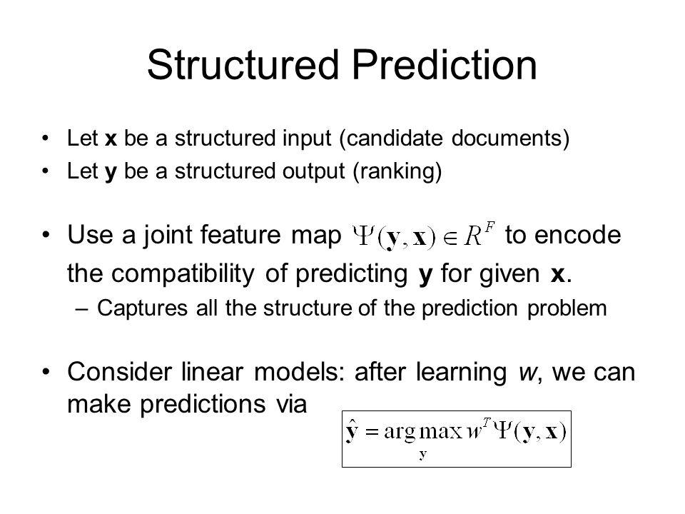 Structured Prediction
