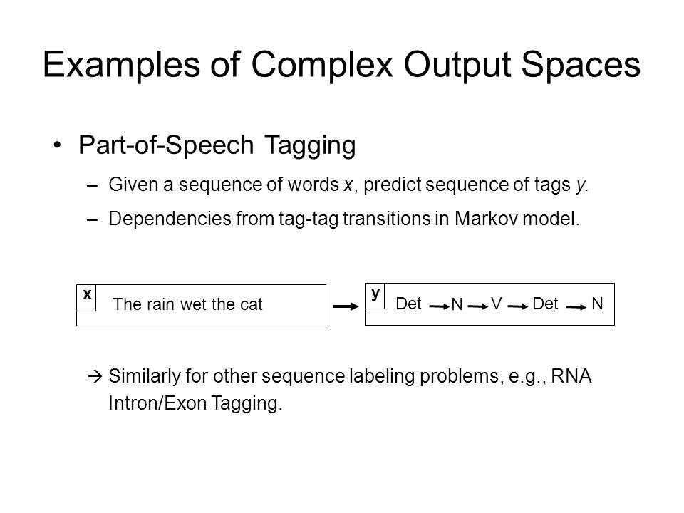 Examples of Complex Output Spaces