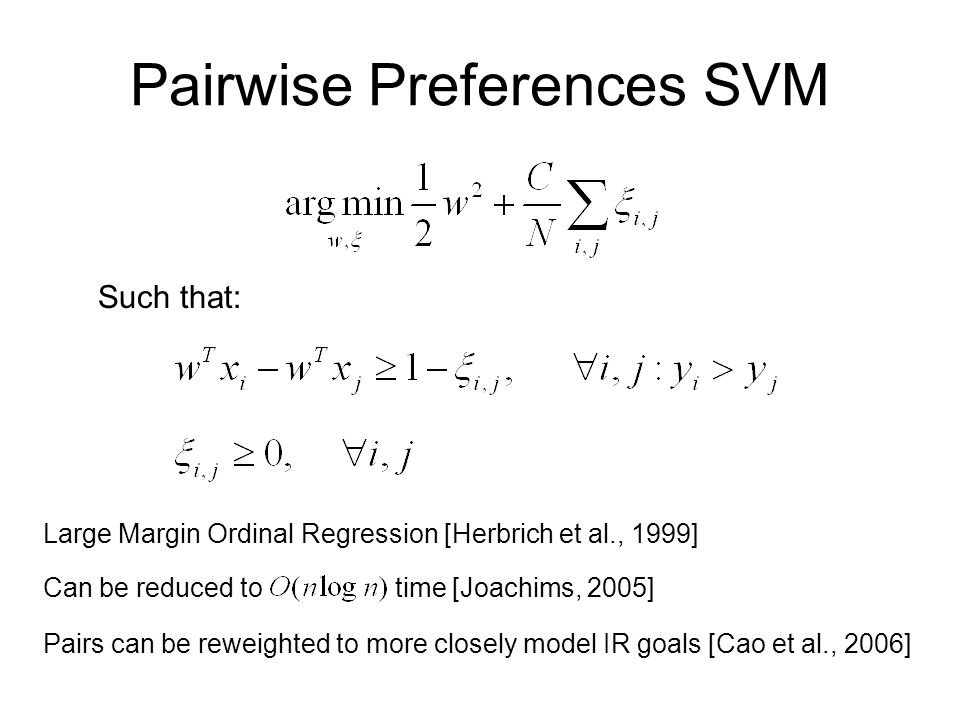Pairwise Preferences SVM