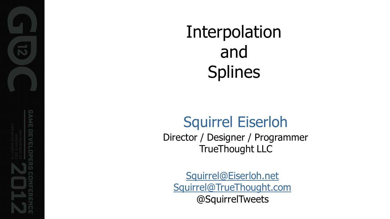 Interpolation and Splines