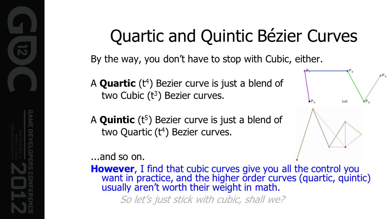 Quartic and Quintic Bézier Curves