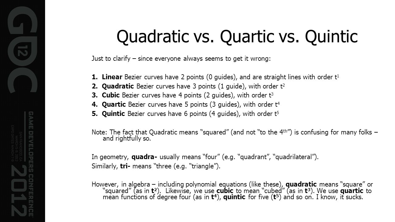 Quadratic vs. Quartic vs. Quintic