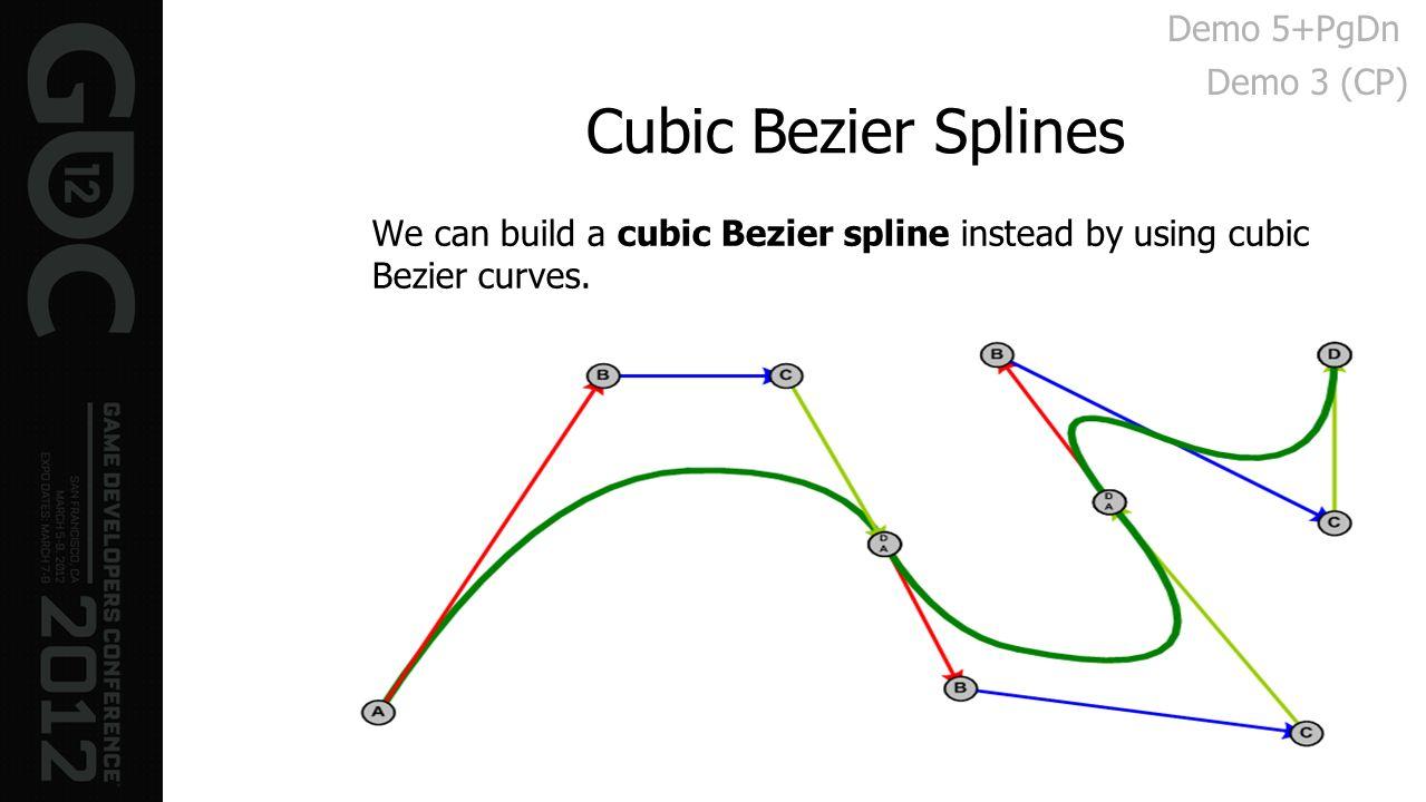 Cubic Bezier Splines Demo 5+PgDn Demo 3 (CP)
