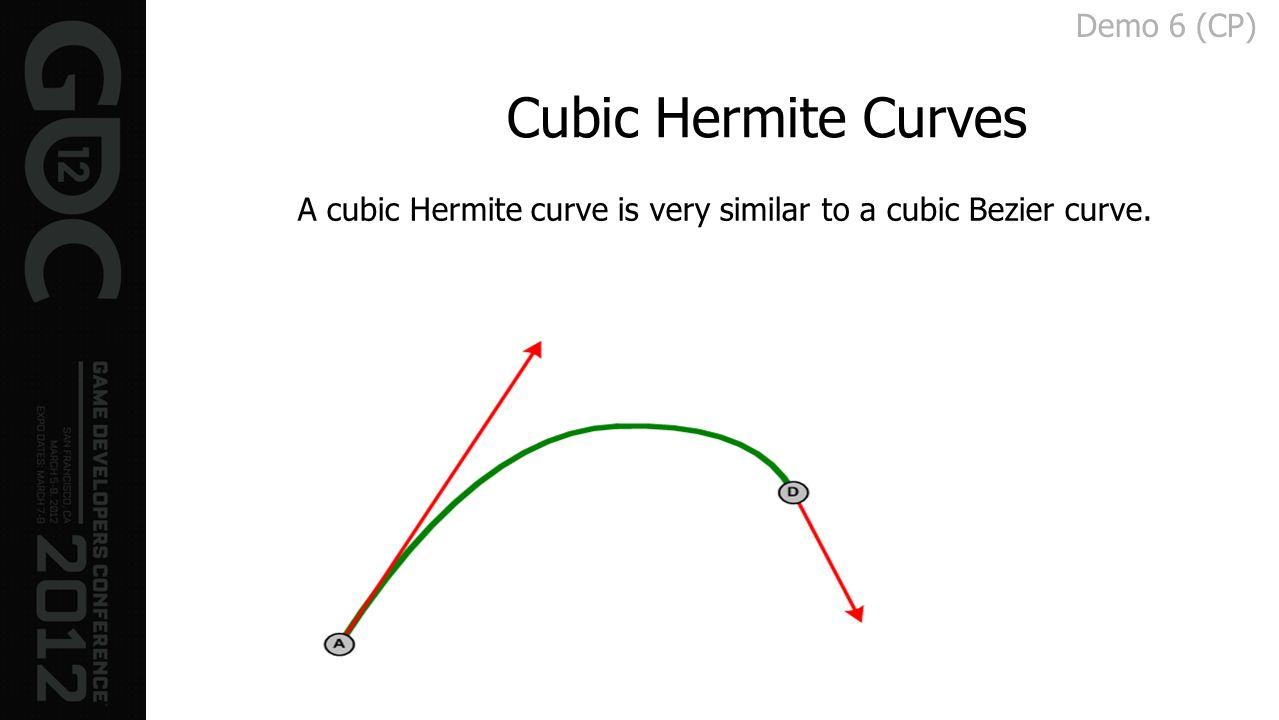 Cubic Hermite Curves Demo 6 (CP)