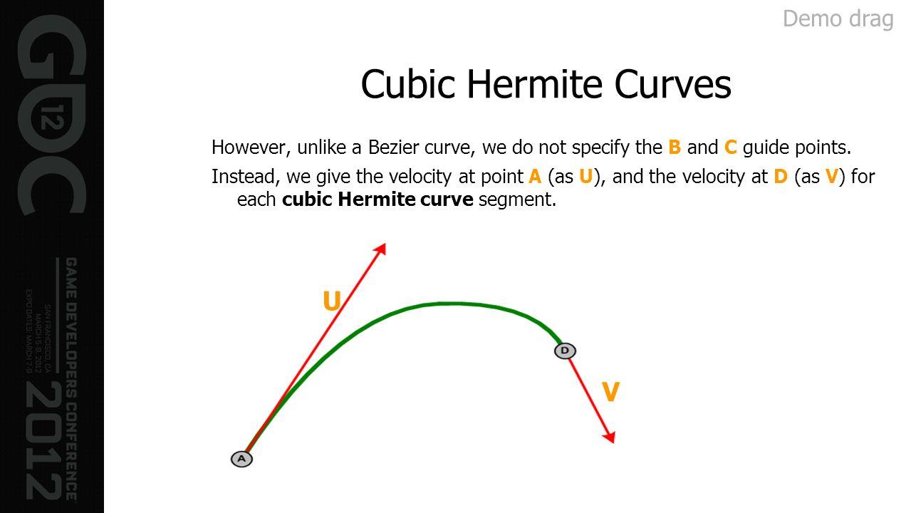 Cubic Hermite Curves U V Demo drag
