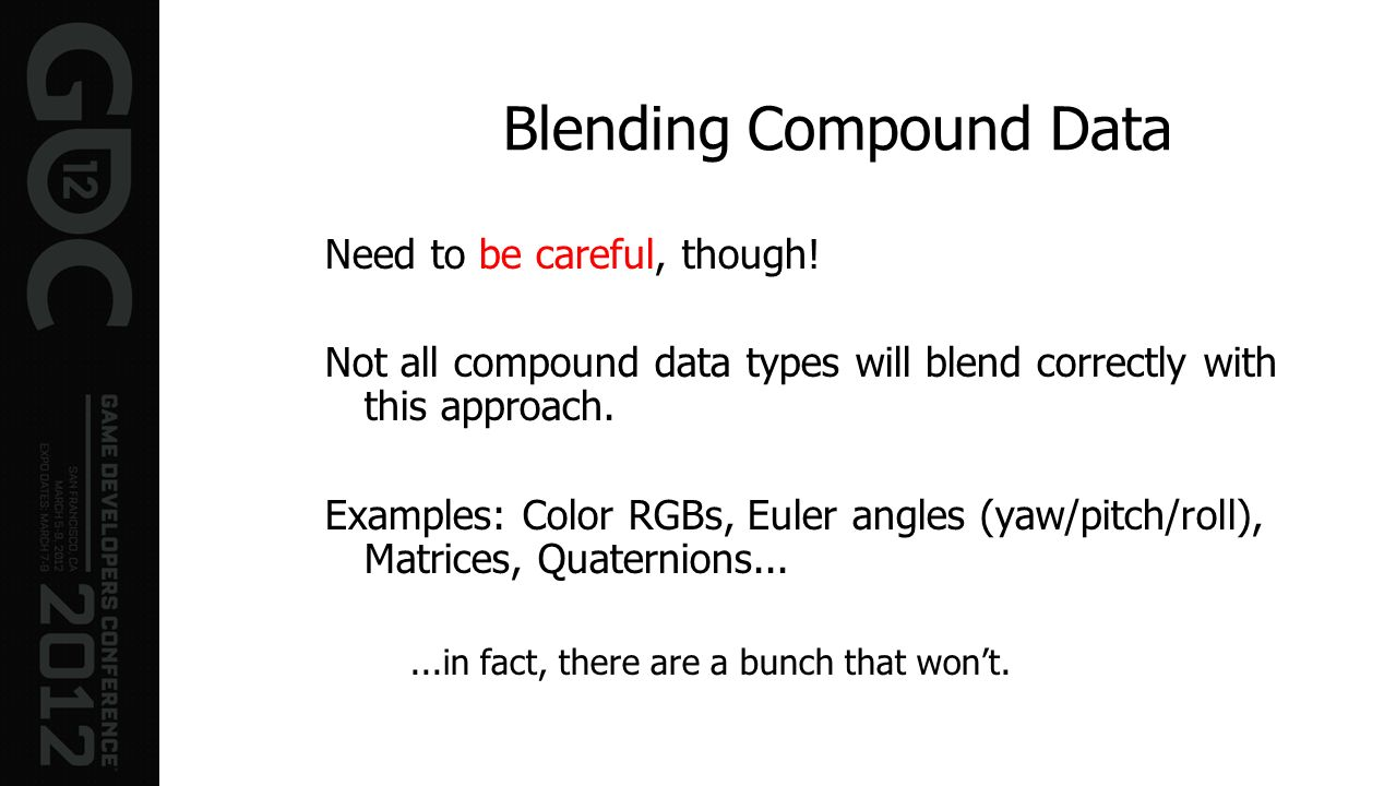 Blending Compound Data