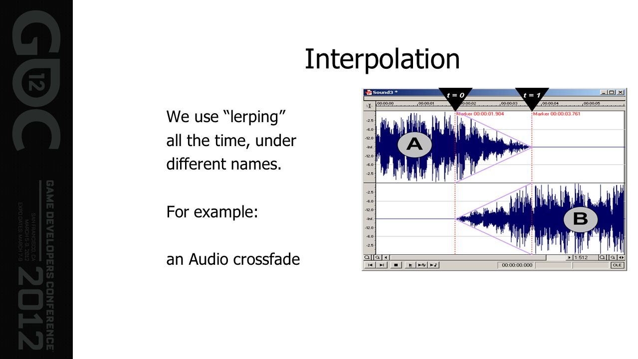 Interpolation We use lerping all the time, under different names.