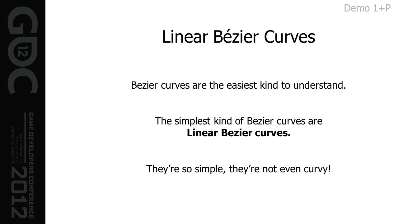 Linear Bézier Curves Demo 1+P