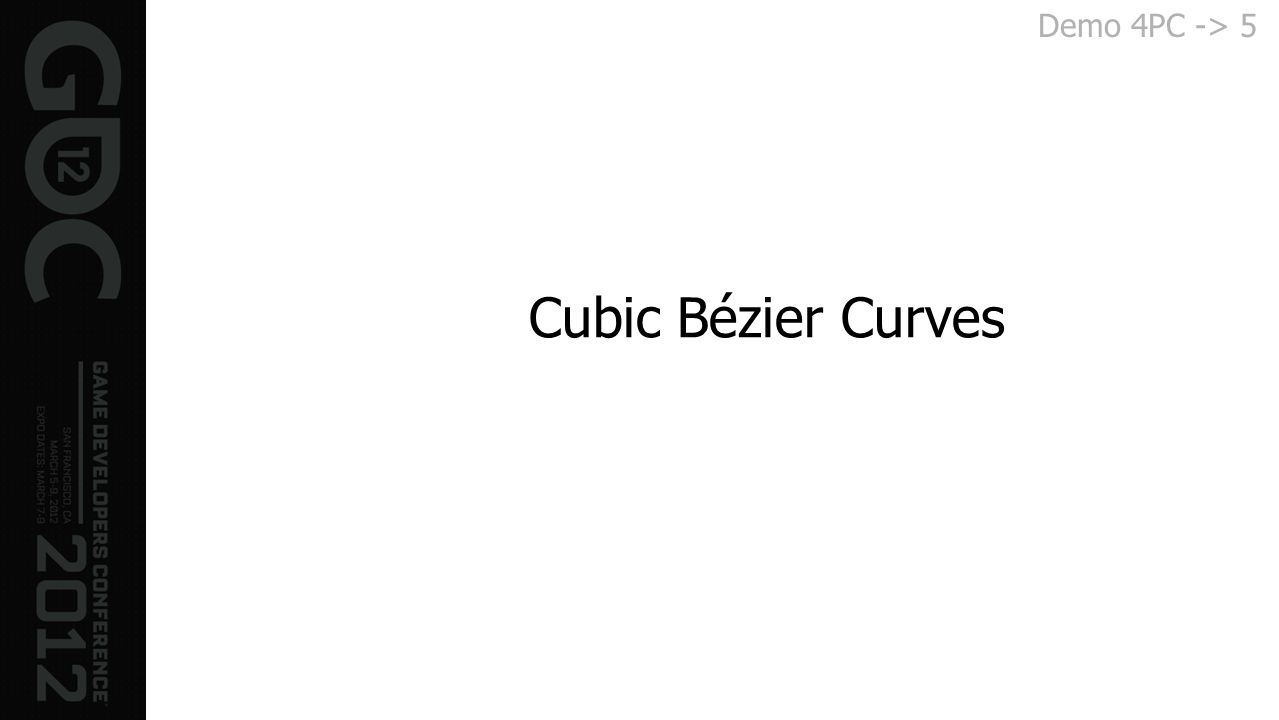 Demo 4PC -> 5 Cubic Bézier Curves