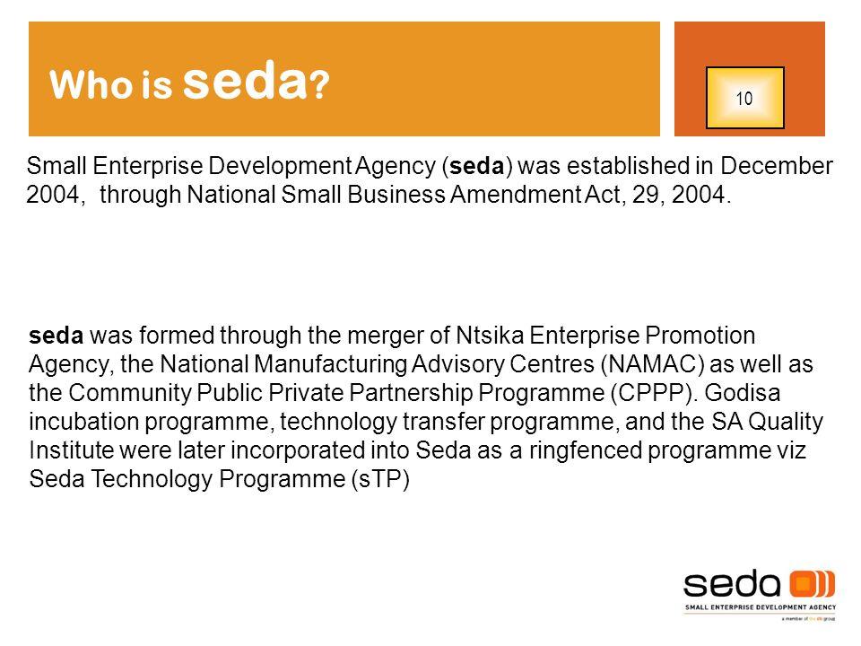 Who is seda 10.