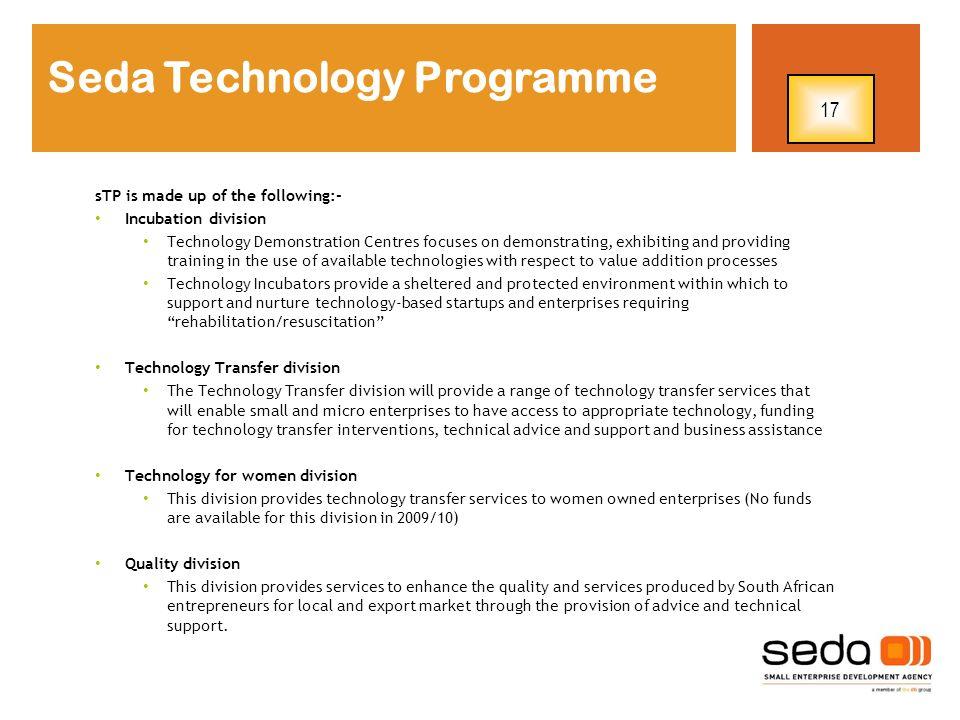 Seda Technology Programme