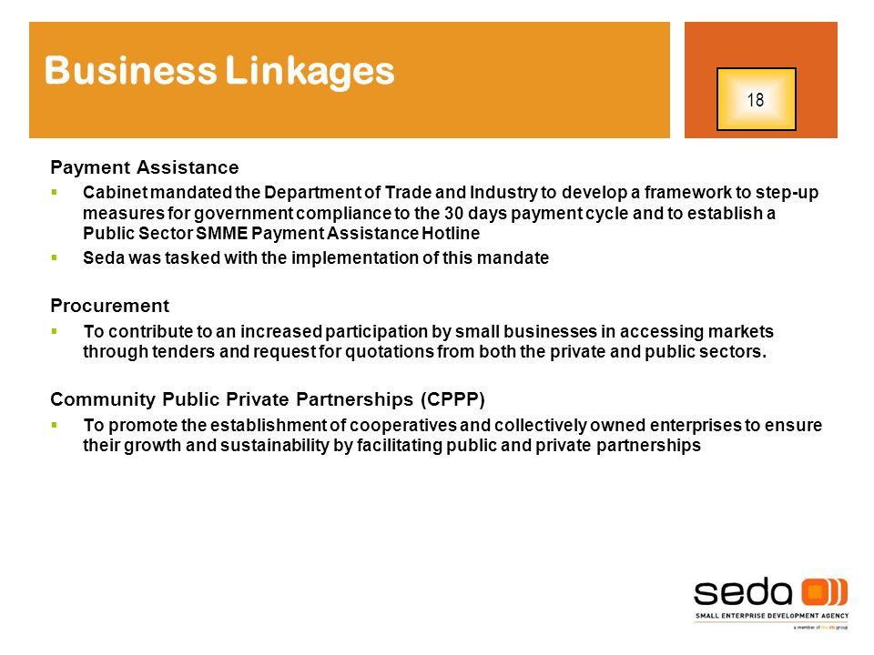 Business Linkages 18 Payment Assistance Procurement