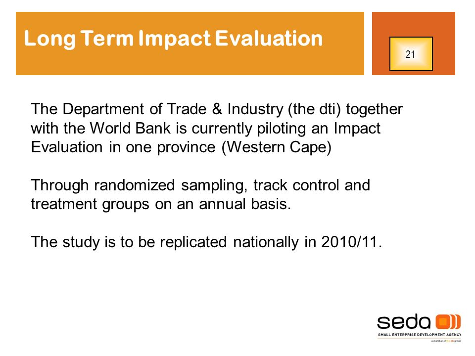 Long Term Impact Evaluation