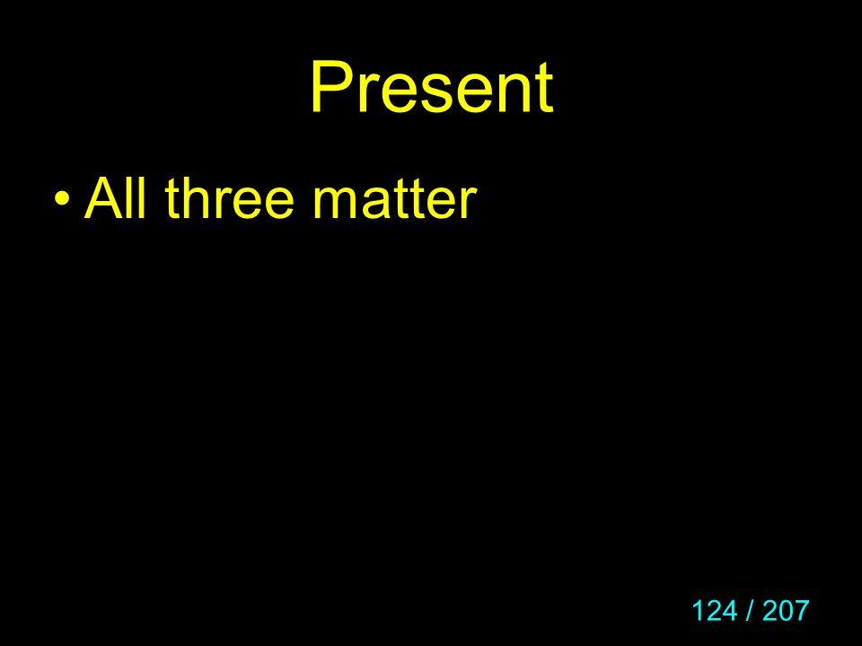 Present All three matter