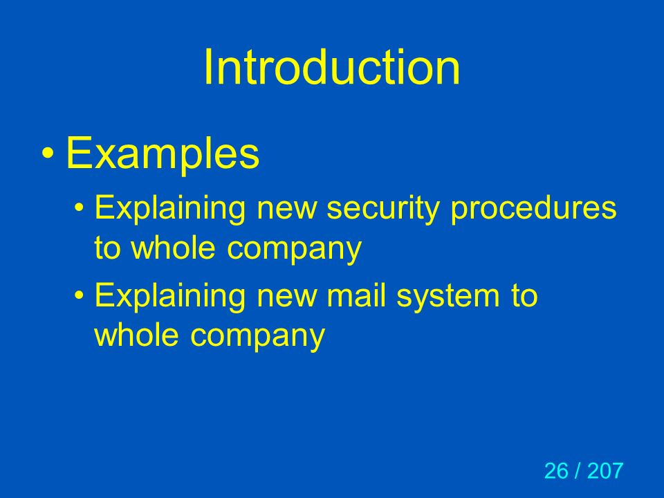 Introduction Examples