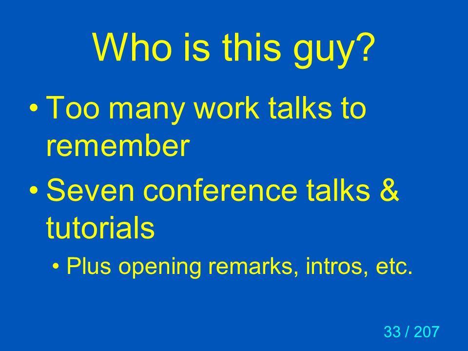 Who is this guy Too many work talks to remember