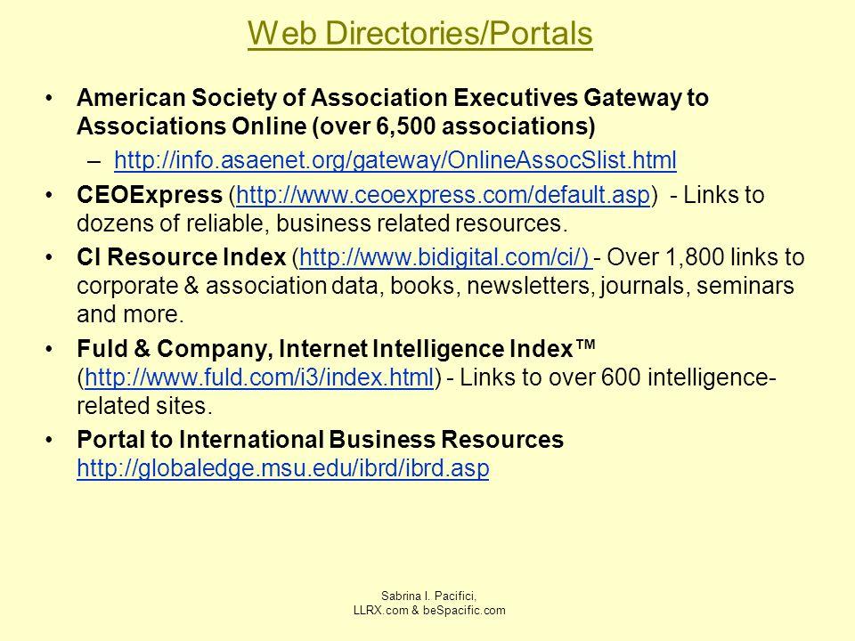 Web Directories/Portals