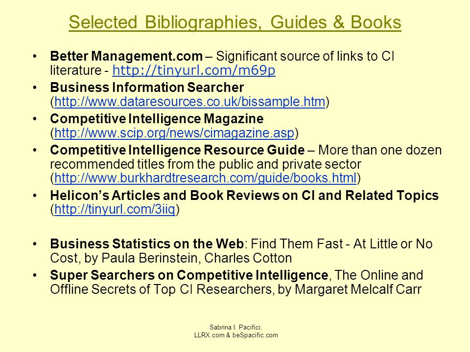 Selected Bibliographies, Guides & Books