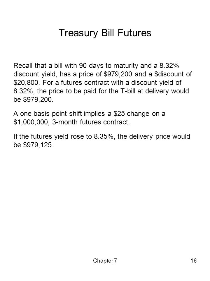 Treasury Bill Futures