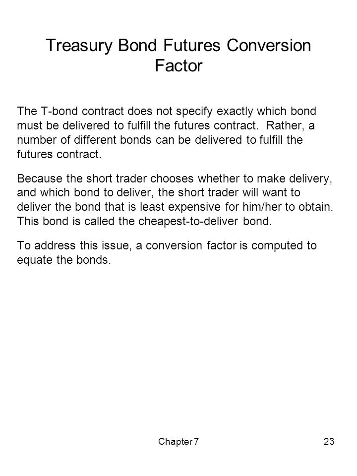 Treasury Bond Futures Conversion Factor