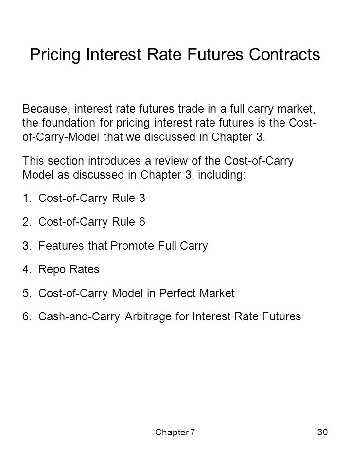 Pricing Interest Rate Futures Contracts