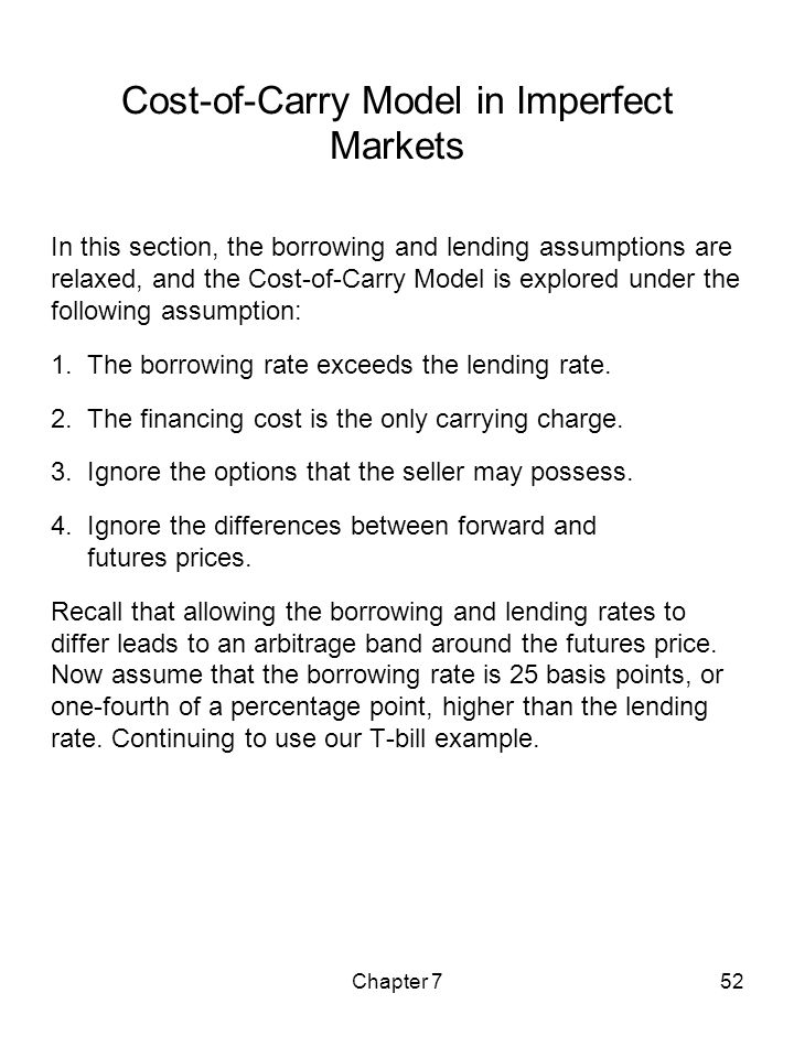 Cost-of-Carry Model in Imperfect Markets