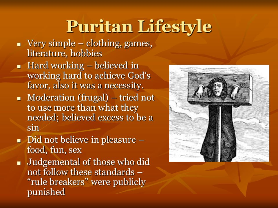 Puritan view of pleasure