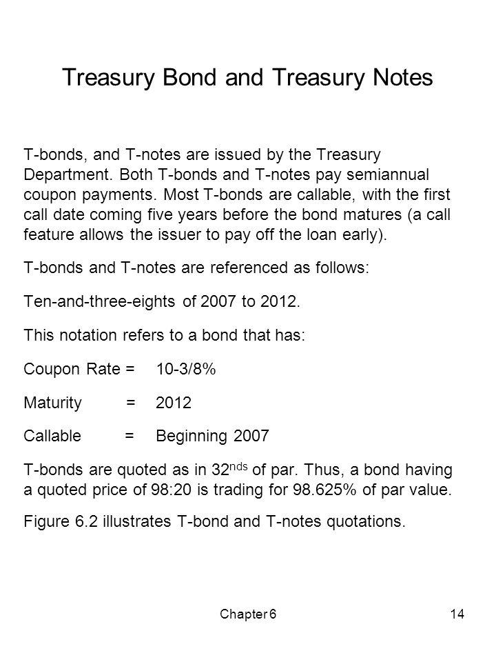 Treasury Bond and Treasury Notes