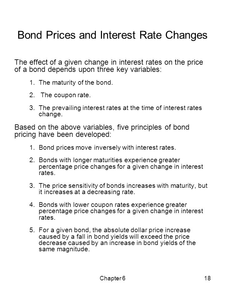 Bond Prices and Interest Rate Changes