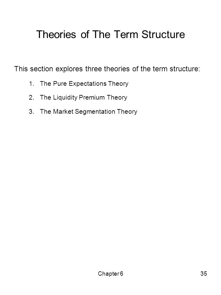 Theories of The Term Structure