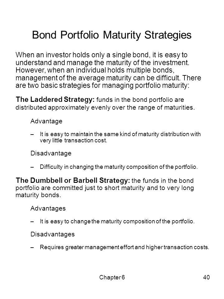 Bond Portfolio Maturity Strategies