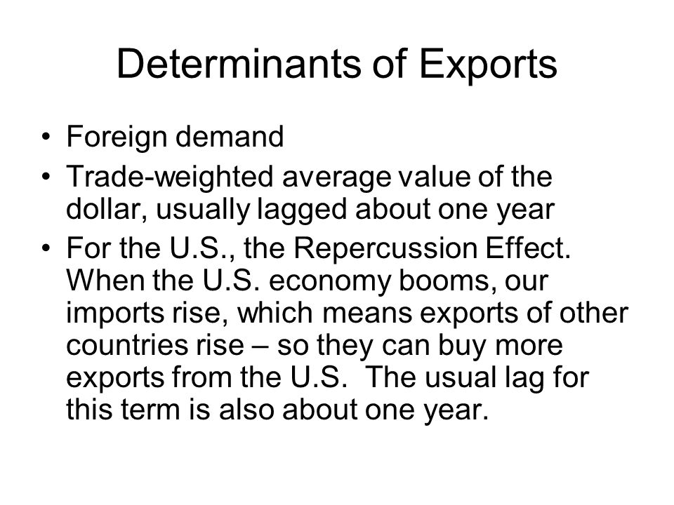 Determinants of Exports
