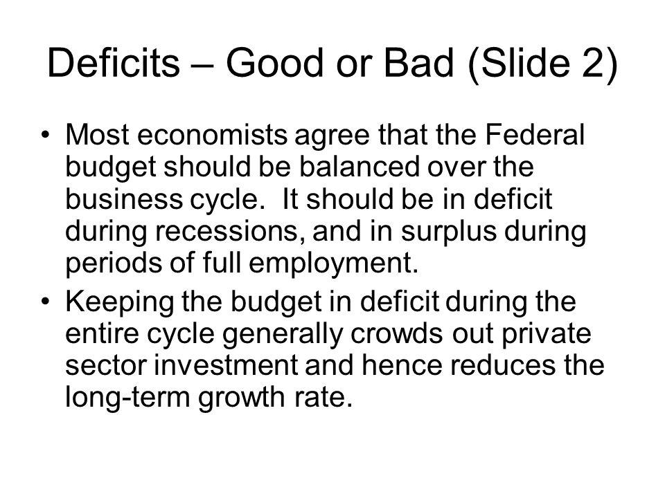 Deficits – Good or Bad (Slide 2)