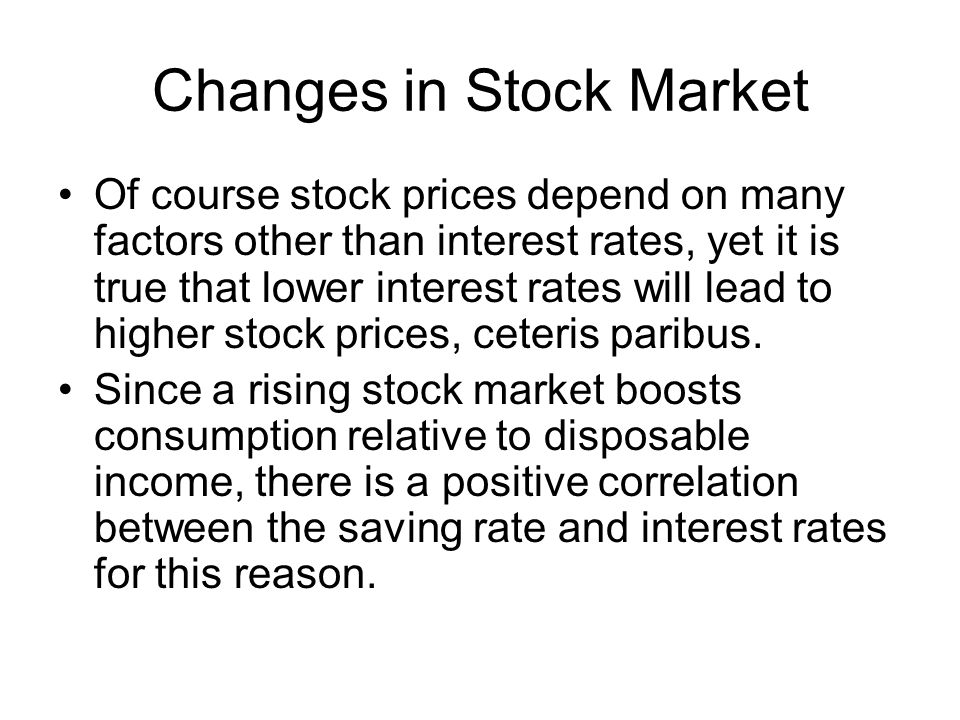 Changes in Stock Market