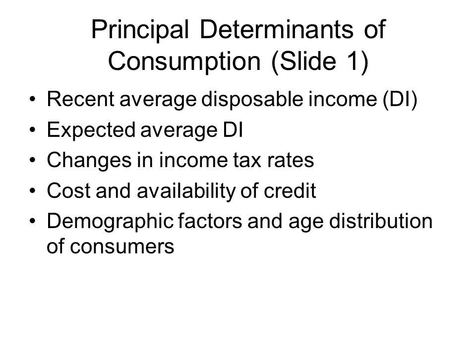 Principal Determinants of Consumption (Slide 1)