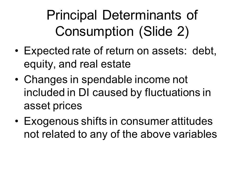 Principal Determinants of Consumption (Slide 2)
